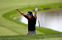 Ryo Ishikawa (JPN),.MARCH 23, 2012 - Golf :.Ryo Ishikawa of Japan celebrates after shoot a par shot from the sand trap on the 11th hole during the second round of the Arnold Palmer Invitational at Arnold Palmer's Bay Hill Club and Lodge in Orlando, Florida. (Photo by Thomas Anderson/AFLO)(JAPANESE NEWSPAPER OUT)