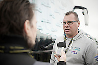 OPQS DS Wilfried Peeters (BEL) interviewed by Shane Stokes<br /> <br /> 2014 Tour de France<br /> stage 2: York-Sheffield (201km)