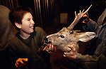 Europe, France, Ardeche. Deer hunters. 1994.'MEAT' across the World..foto © Nigel Dickinson
