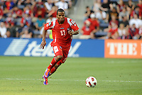 Luis Henriquez defender Panama in action...Canada and Panama tied 1-1 in Gold Cup play at LIVESTRONG Sporting Park, Kansas City, Kansas.