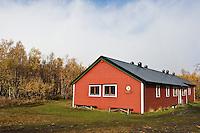 Abiskojaure hut in Autumn, Kungsleden trail, Sweden