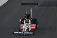 Feb. 22, 2013; Chandler, AZ, USA; NHRA top fuel dragster driver Clay Millican during qualifying for the Arizona Nationals at Firebird International Raceway. Mandatory Credit: Mark J. Rebilas-