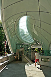 Congress station of the Hungerburgbahn funicular line, designed by Zaha Hadid; the funicular goes to Nordpark resort at 2,256 meters with views of the Central Inn Valley and access to hiking and skiing