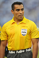 Fourth Official referee Marco Rodriguez. Honduras defeated Costa Rica 1-0 at the quaterfinal game of the Concacaf Gold Cup, M&T Stadium, Sunday July 21 , 2013.