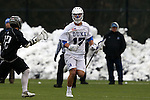 01 March 2015: Duke's Thomas Zenker. The Duke University Blue Devils hosted the Providence College Friars on the West Turf Field at the Duke Athletic Field Complex in Durham, North Carolina in a 2015 NCAA Division I Men's Lacrosse match. Duke won the game 20-8.