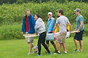 From left, Christopher Meserve, Alyssa Kwok, Danielle Leahy, Joseph Miller, John McLaren. Outdoor team building activities. Wilderness medicine.