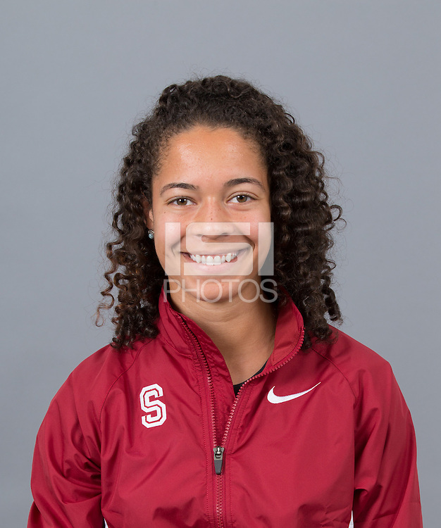 STANFORD, CA - SEPTEMBER 24, 2014--Claudia Saunders, with Stanford University Cross Country Team