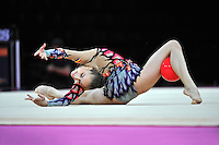 September 20, 2011; Montpellier, France;  ALEXANDRA PISCUPESCU of Romania performs with ball at 2011 World Championships.