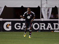 Luciano Emilio (11) of D.C. United celebrates converting a penalty kick during a U.S. Open Cup tournament game at RFK Stadium in Washington, DC.  D.C. United defeated Real Salt Lake, 2-1, in overtime.