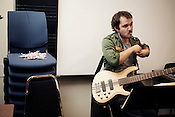 Vladimir Smirnov, of the Duke New Music Esemble, Durham, North Carolina, Monday, Nov. 5, 2012. .