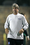 17 October 2014: Duke head coach John Kerr. The Duke University Blue Devils hosted the Notre Dame University Fighting Irish at Koskinen Stadium in Durham, North Carolina in a 2014 NCAA Division I Men's Soccer match. Notre Dame won the game 4-1.