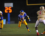 Oxford High's Glenn Gordon (11) vs. Lafayette High at Bobby Holcomb Field in Oxford, Miss. on Thursday, August 30, 2012. Oxford High won 19-0.