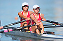 (L to R) Shiori Yamamoto (JPN), Ai Tsuchiya (JPN), SEPTEMBER 18, 2011 - Rowing : The 89th All Japan Rowing Championships during the Race A final of Women's Double Sculls at the Toda Olympic Rowing Course, Saitama, Japan. (Photo by Jun Tsukida/AFLO SPORT) [0003]