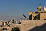 A view of Bethlehem, West Bank, believed to be the birth place of Jesus Christ.