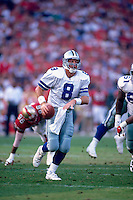 SAN FRANCISCO, CA - Quarterback Troy Aikman of the Dallas Cowboys in action during a game against the San Francisco 49ers at Candlestick Park in San Francisco, California on November 10, 1996. Photo by Brad Mangin