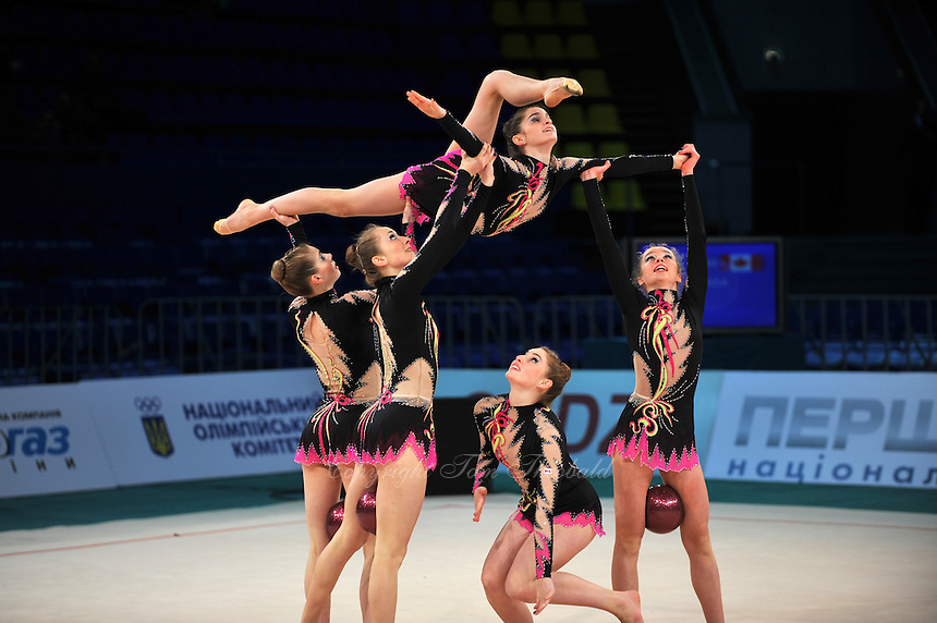 "Canada senior group performs at 2011 World Cup Kiev, ""Deriugina Cup"" in Kiev, Ukraine on May 06, 2011."