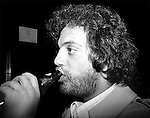 Billy Joel has a drink at the Bottom Line before a David Bromberg concert in February 1978.