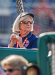 6 September 2014: Washington Nationals Usher Susan stands just outside the dugout prior to a game against the Philadelphia Phillies at Nationals Park in Washington, DC. The Nationals fell to the Phillies 3-1 in the second game of their 3-game series. Mandatory Credit: Ed Wolfstein Photo *** RAW (NEF) Image File Available ***