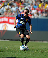 Manchester United midfielder Tom Cleverly (35) makes a move.  Manchester United defeated the Chicago Fire 3-1 at Soldier Field in Chicago, IL on July 23, 2011.