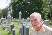Senior Citizen at a cemetery