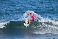 Carrisa Moore (HAW).  Haleiwa Hawaii, (Tuesday November 16, 2010) .Haleiwa Ali'i Beach Park  turned on 3' surf for the second day of the 2010 Vans Triple Crown of Surfing.  The Round one and two of the women's Cholos Women's Hawaiian Pro was completed today, along with the second of three heats of four of professional surfing all-time world champions in the REEF Clash of the Legends: Tom Curren (USA), Tom Carroll (Australia), Sunny Garcia (Hawaii), and Mark Occhilupo (Australia). ..Photo: joliphotos.com