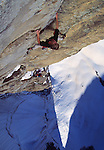 The late, great alpinist, Alex Lowe &amp; Conrad Anker climbing a first ascent on &quot;The Bird&quot; in the Ak-Su, Pamirs, Kyrgyzstan