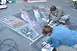 Cheryl & Wayne Renshaw:  Street painting with chalk