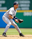 18 June 2006: Derek Jeter, shortstop for the New York Yankees, in action against the Washington Nationals at RFK Stadium, in Washington, DC. The Nationals defeated the Yankees 3-2 in the third game of the interleague series...Mandatory Photo Credit: Ed Wolfstein Photo...