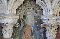 Fresco of a sibyl, classical Greek oracular woman, 1506, in the Chapel of St Eloi, at the Basilique Cathedrale Notre-Dame d'Amiens or Cathedral Basilica of Our Lady of Amiens, built 1220-70 in Gothic style, Amiens, Picardy, France. Amiens Cathedral was listed as a UNESCO World Heritage Site in 1981. Picture by Manuel Cohen