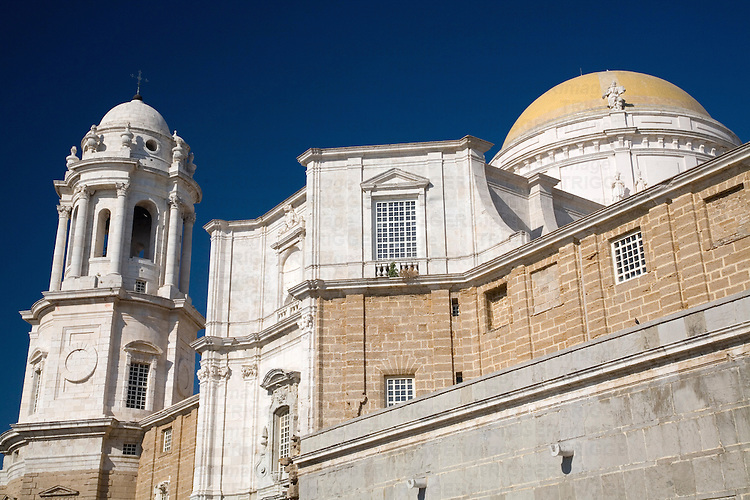 Colorful, polarized image of Cadiz Cathedral.