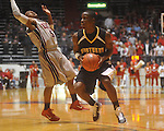 "Southern Mississippi guard R.L. Horton (15) is fouled by Ole Miss guard Dundrecous Nelson (5) at C.M. ""Tad"" Smith Coliseum in Oxford, Miss. on Saturday, December 4, 2010."