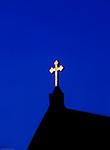Glowing cross.