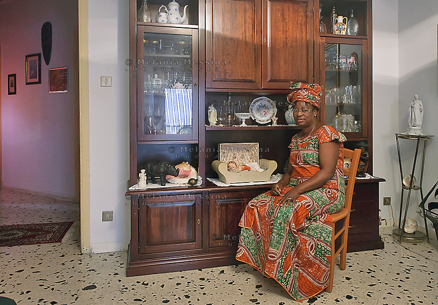 Palermo:Vero, una donna che &egrave; stata vittima della tratta, adesso fondatrice di un'associazione di donne nigeriane  per  condurre in prima persona battaglie per contrastare il fenomeno della tratta.<br />