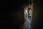 A narrow street in the Shatila refugee camp in Beirut, Lebanon, where refugees of Syria's civil war have moved in alongside Palestinians who have lived here for decades. Lebanon hosts some 1.5 million refugees from Syria.