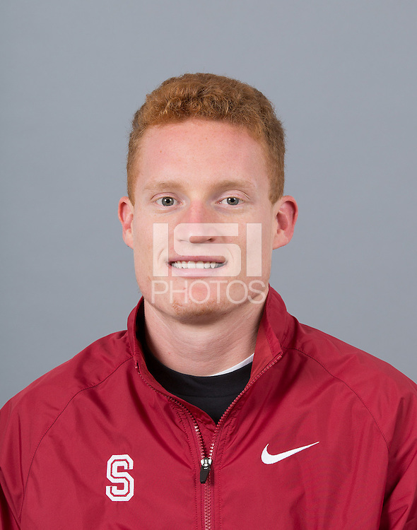 STANFORD, CA - SEPTEMBER 24, 2014--Jim Rosa, with Stanford University Cross Country Team