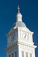 Florida, Fernandina Beach,  Building Clock Tower, Centre Street