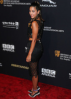 BEVERLY HILLS, CA, USA - OCTOBER 30: Liz Hernandez arrives at the 2014 BAFTA Los Angeles Jaguar Britannia Awards Presented By BBC America And United Airlines held at The Beverly Hilton Hotel on October 30, 2014 in Beverly Hills, California, United States. (Photo by Xavier Collin/Celebrity Monitor)