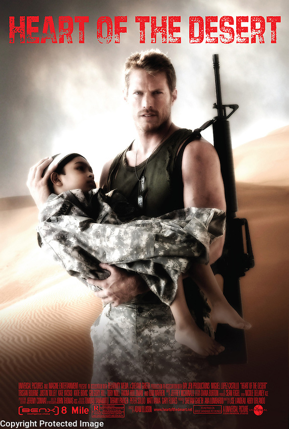 """A big plot point is this movie """"Heart of the Desert""""…. and as always, the poster has to be absolutely believable, and not a fake looking throwaway effort."""