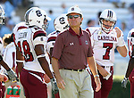 13 October 2007: South Carolina head coach Steve Spurrier. The University of South Carolina Gamecocks defeated the University of North Carolina Tar Heels 21-15 at Kenan Stadium in Chapel Hill, North Carolina in an NCAA College Football Division I game.