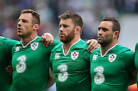 Sean O'Brien during the anthems. QBE International match between England and Ireland on September 5, 2015 at Twickenham Stadium in London, England. Photo by: Patrick Khachfe / Onside Images