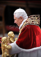 Pope Benedict XVI leads the Consistory where he will appoint 22 new cardinals on February 18, 2012 at St Peter's basilica at the Vatican.