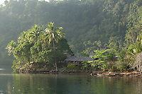 Waterside village on the Fjord, Tufi, Cape Nelson, Oro Province, Papua New Guinea