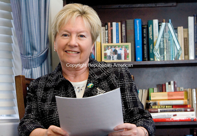 WINSTED, CT. 17 December 2012-121712SV02-Barbara Douglass president of Northwestern Connecticut Community College in her office at the college in Winsted Monday..Steven Valenti Republican-American