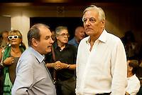 Roma 8 Settembre 2013<br /> Assemblea  in difesa della Costituzione.<br /> Paolo Ferrero,Rifondazione Comunista, Cesare Salvi, Federazione della Sinistra