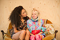 London, UK. 21.11.2013. TROUT STANLEY, by Claudia Dey, directed by Matt Steinberg, opens at Southwark Playhouse. Picture shows: Vinette Robinson (Grace Ducharme) and Sinead Matthews (Sugar Ducharme). Photograph © Jane Hobson. .