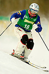15 January 2005 - Lake Placid, New York, USA - Michelle Roark representing the USA, competes in the FIS World Cup Ladies' Moguls Freestyle ski competition, ranking third for the day, taking the Bronze Medal, at Whiteface Mountain, Lake Placid, NY. ..Mandatory Credit: Ed Wolfstein Photo.