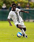 17 October 2007: The University of Vermont Catamounts' Lee Stephane Kouadio, a Junior from Woodlyn, PA, in action against the University of Maryland Retreivers at Historic Centennial Field in Burlington, Vermont. The Catamounts and Retrievers battled to a scoreless, double-overtime tie...Mandatory Photo Credit: Ed Wolfstein Photo