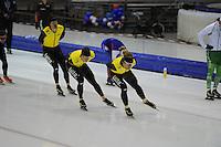 SCHAATSEN: HEERENVEEN: 24-10-2014, IJsstadion Thialf, Topsporttraining Team LottoNL - Jumbo, Sven Kramer, Douwe de Vries, ©foto Martin de Jong
