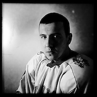 Ice Men Cometh&hellip; Viktor Chebishev, 18, Bulgaria..An iPhone portrait series on young men competing in the 2012 IIHF Ice Hockey World Championships Division 3. The tournament  was contested by countries New Zealand, Iceland, China, Bulgaria and Turkey at Dunedin Ice Stadium. Dunedin, Otago, New Zealand. 17th January 2012. Photo Tim Clayton