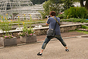 Photographer at Higashiayama Botanic Gardens.